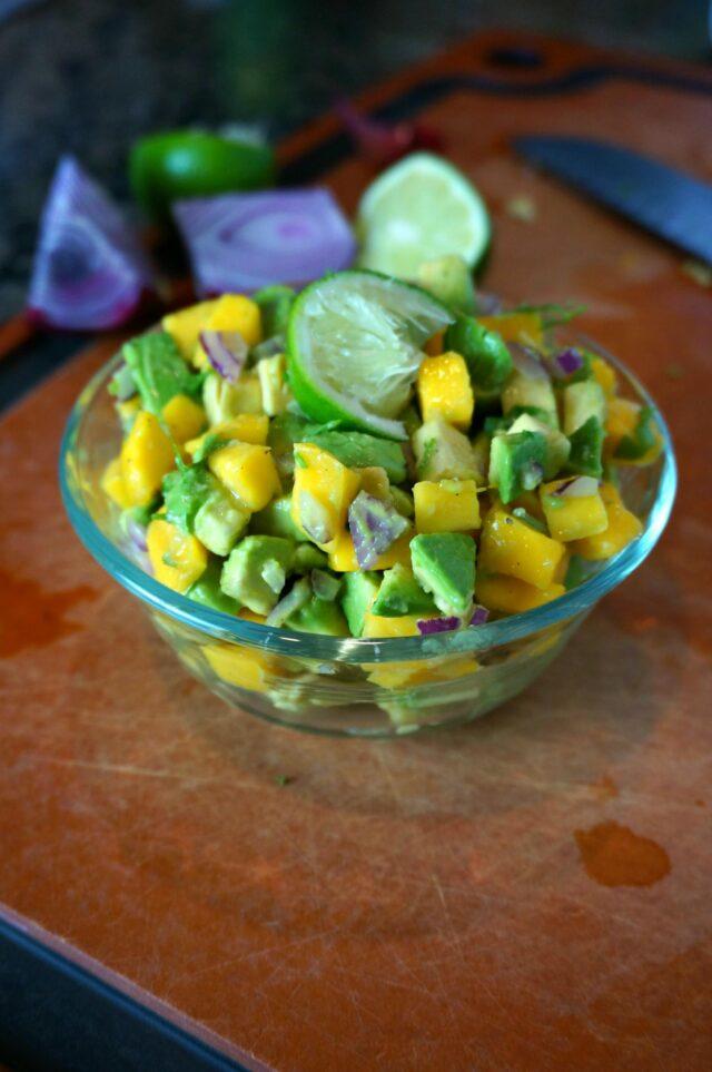 avocado mango salsa- simple