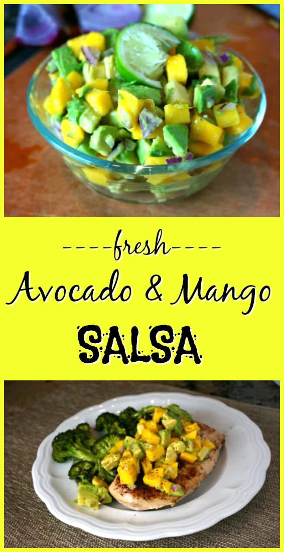 avocado and mango salsa