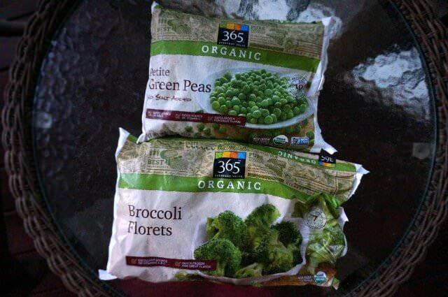 frozen veggies for baby