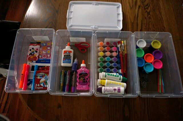 preschool art bins