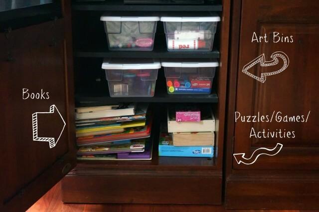 preschooler activity cabinet