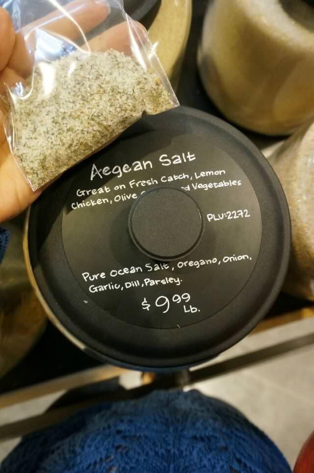 aegean salt- whole foods
