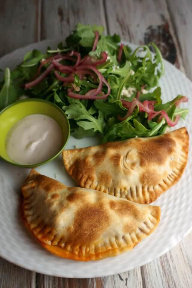 blue apron- baked empanadas