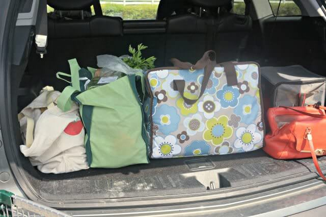 meal planning after vacation- reusable bags