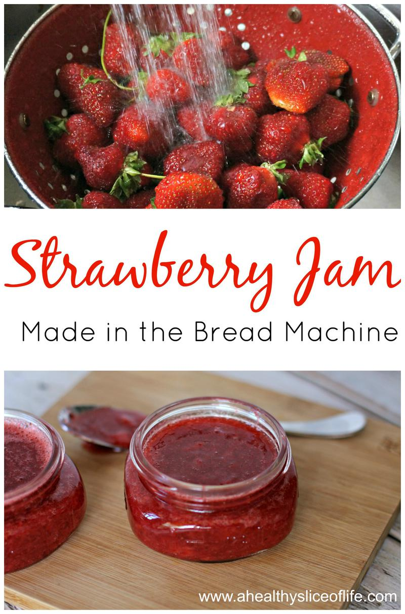 Simple Strawberry Jam- made in the Bread Machine!