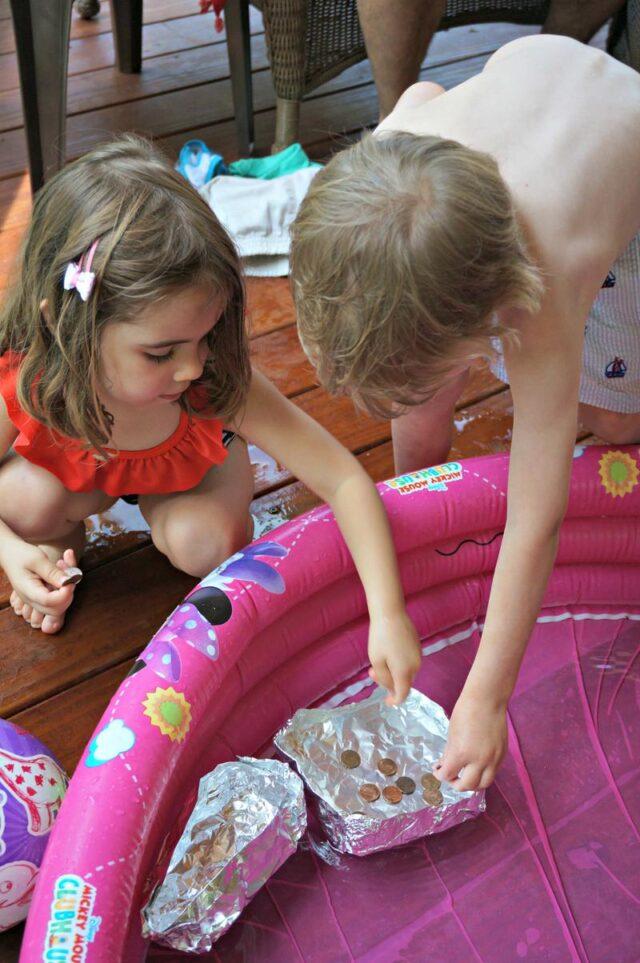 Homeschool Preschool Activity- penny float boats