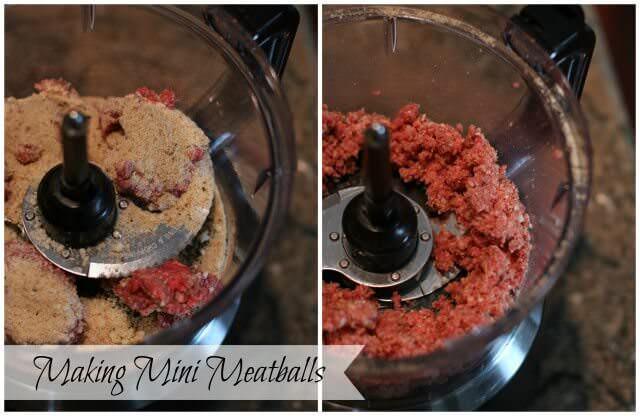 calorie dense mini meals- making meatball minis