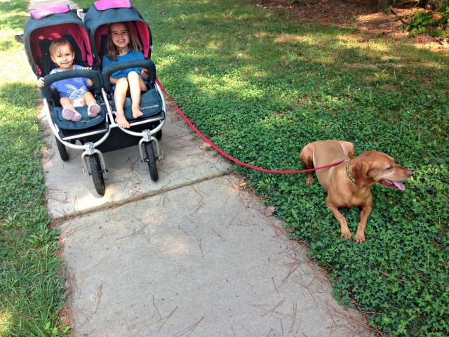 double stroller walk