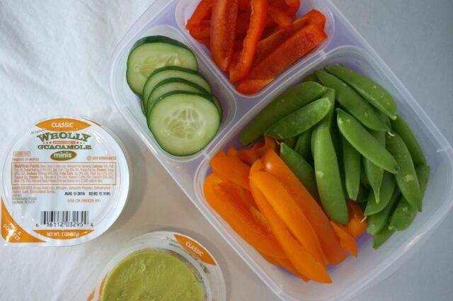healthy road trip favorites- veggies and dippers