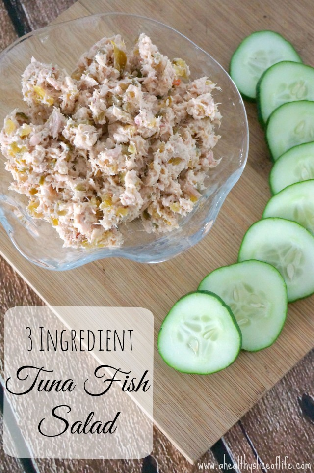simple tuna fish salad- only 3 ingredients