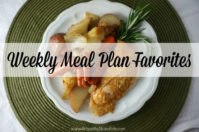 weekly meal plan favorites