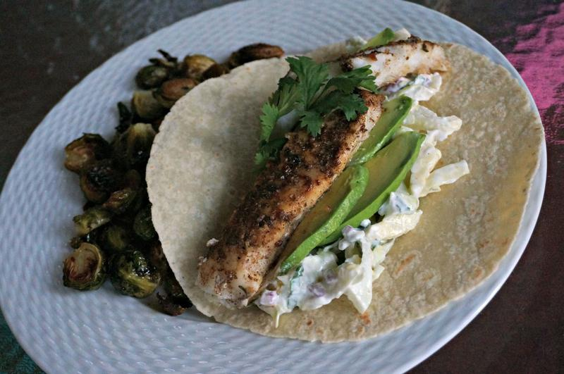 Nutrition tip of the week a healthy slice of life for Fish tacos cod