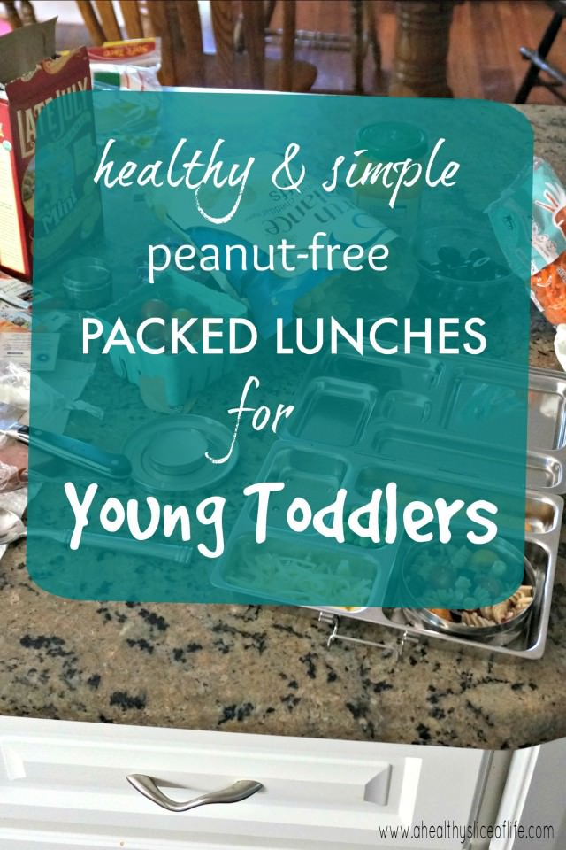 peanut free packed lunches for young toddlers
