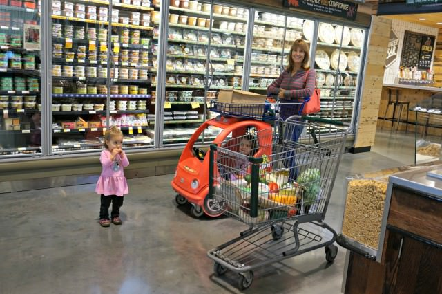 back on track- grocery shopping help