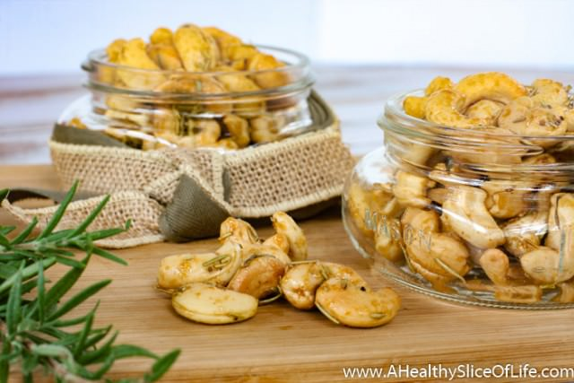 sweet and spicy rosemary cashews- 3