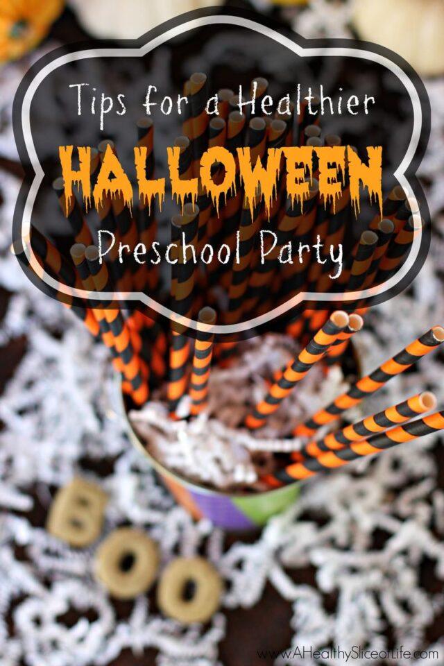 tips for a healthier halloween preschool party