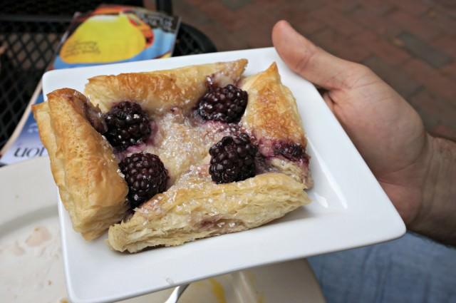 weekend- blackberry cream cheese