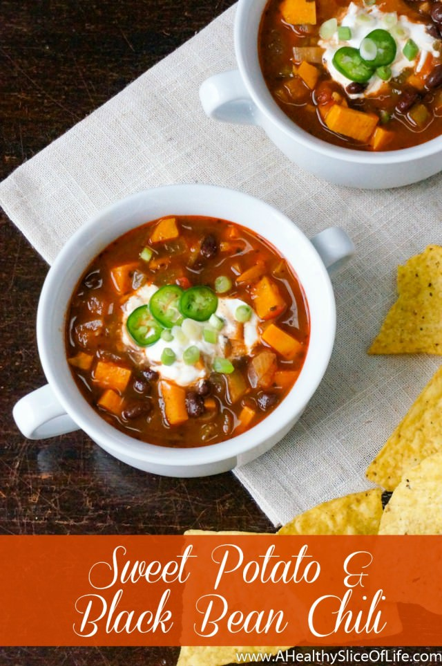 Spicy Sweet Potato & Black Bean Chili | A Healthy Slice of Life