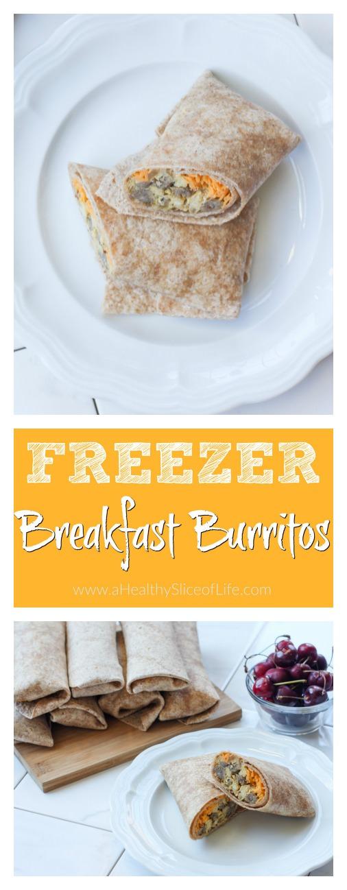 healthy freezer breakfast burritos