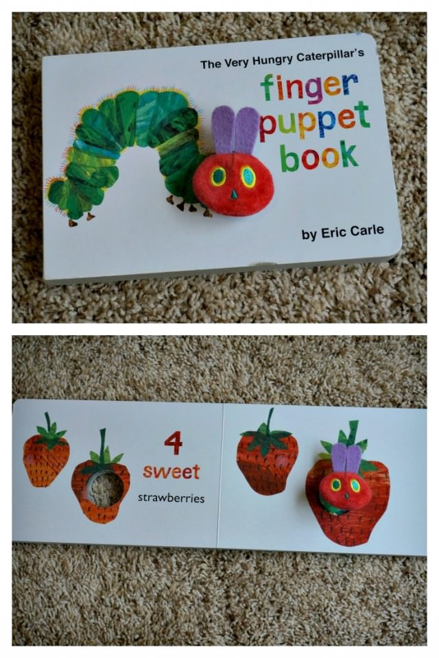 the very hungry caterpillar finger puppet