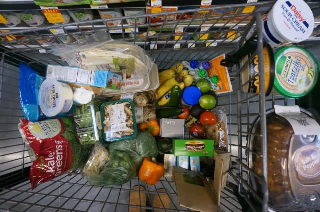 whole food grocery cart haul