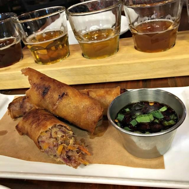 heist brewery pork spring rolls