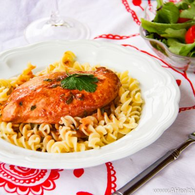 Marinated Chicken and Noodles