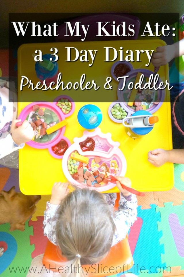 what my kids ate 3 day diary