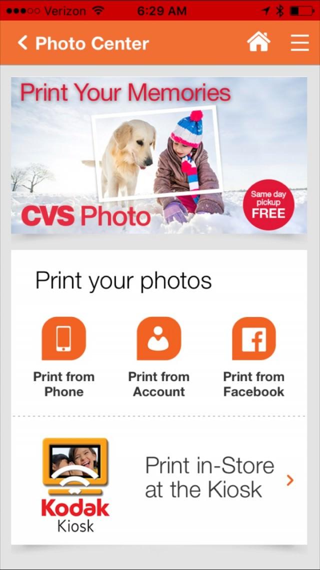 CVS app photo print- 1