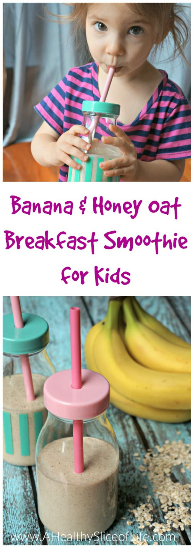 Kid-Friendly Banana and Honey Oatmeal Smoothie (for Busy Moms!)