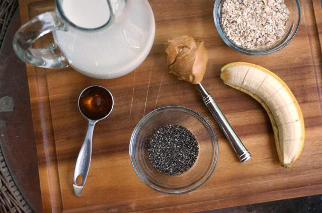 honey banana oat smoothie for kids- 2
