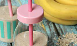 honey banana oat smoothie for kids- 4