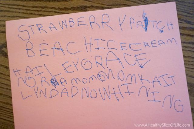 4 year old summer bucket list