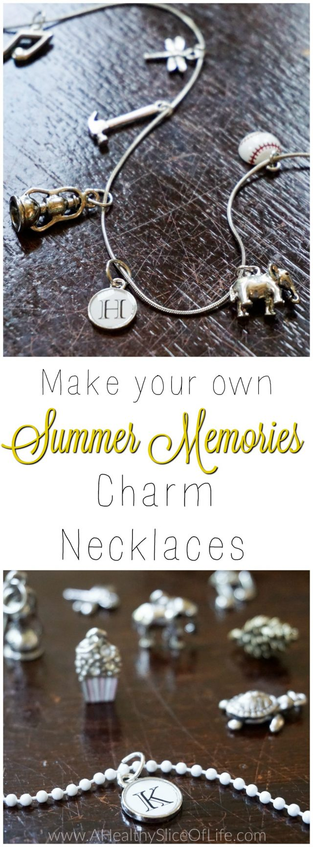 summer memory charm necklaces