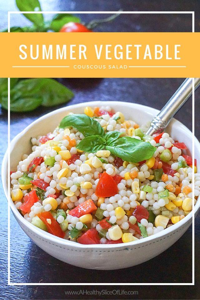 Summer Vegetable Israeli Couscous
