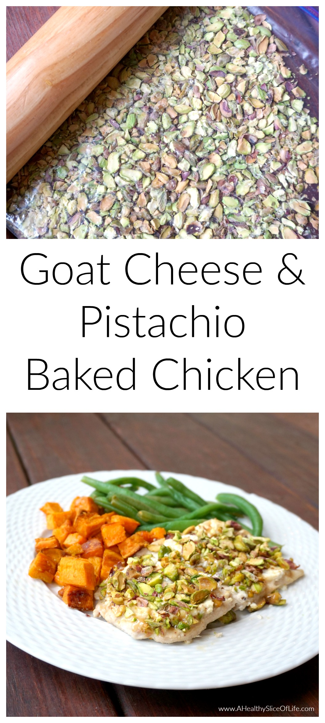 goat cheese and pistachio baked chicken