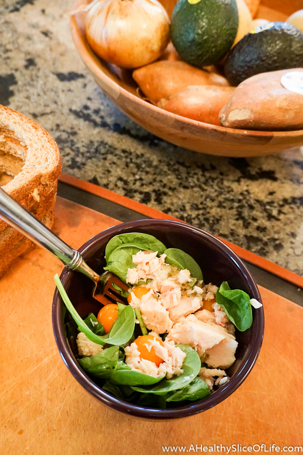 spinach and tuna salad