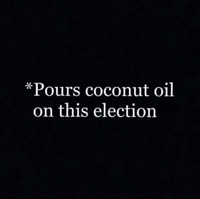 coconut oil election