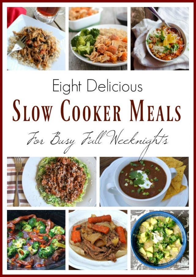 8 Delicious Slow Cooker Meals for Busy Fall Weeknights