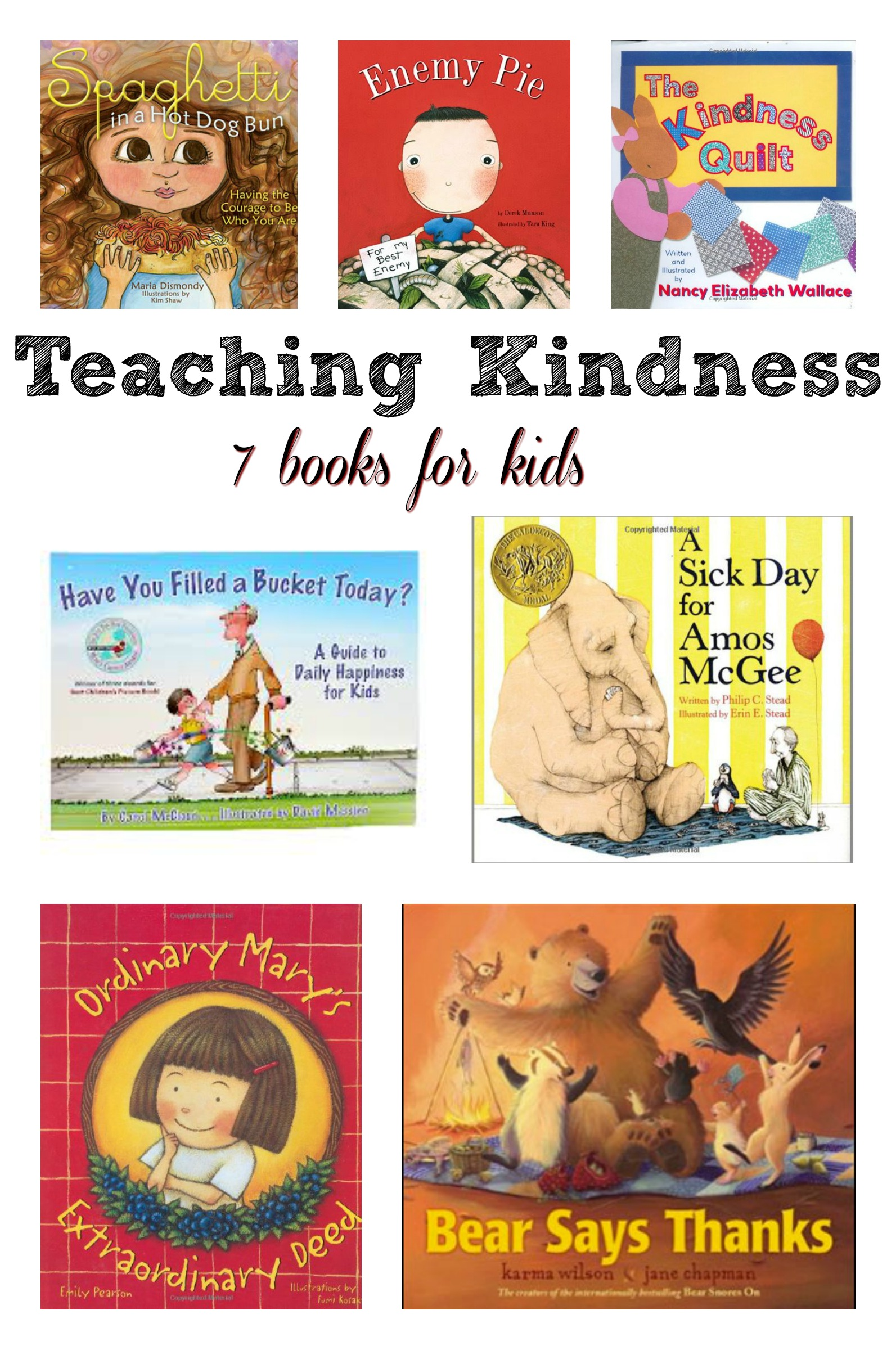 kindness books teach kindergarten preschool activities childrens read reading toddler children cool young lessons printables