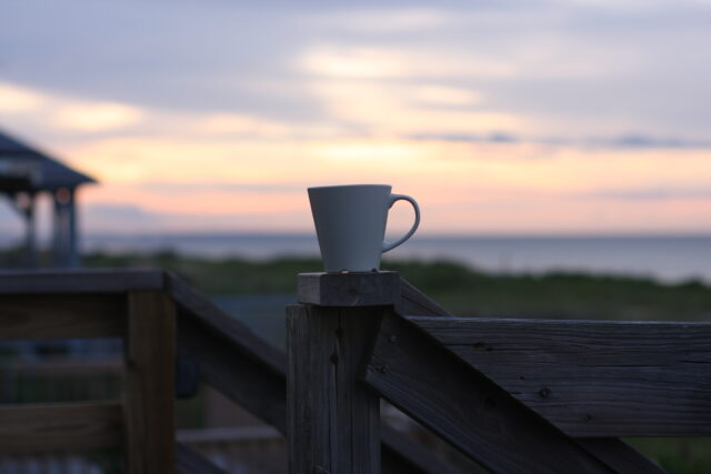 coffee cup sunrise