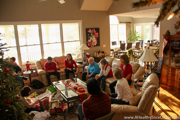 first grandchild center of Christmas attention