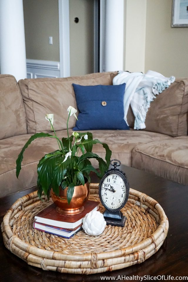 large coffee table decor