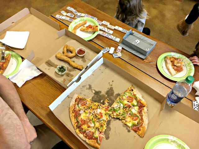 salty caper pizza