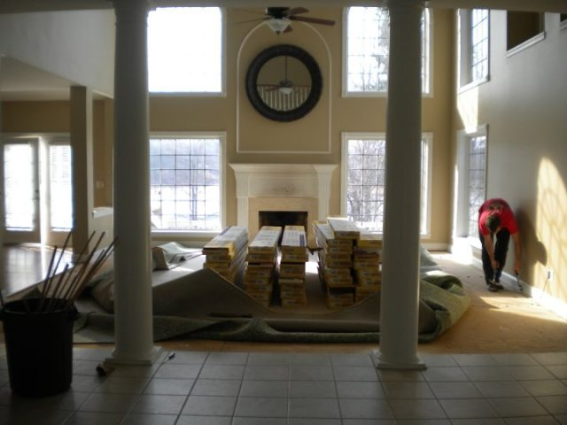 living room old floors