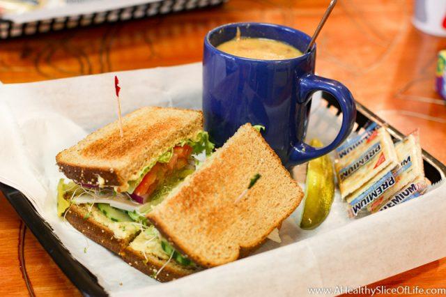Krimson Kafe sandwich