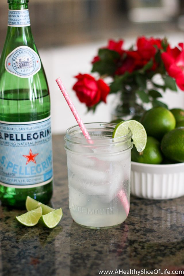 pellegrino and lime