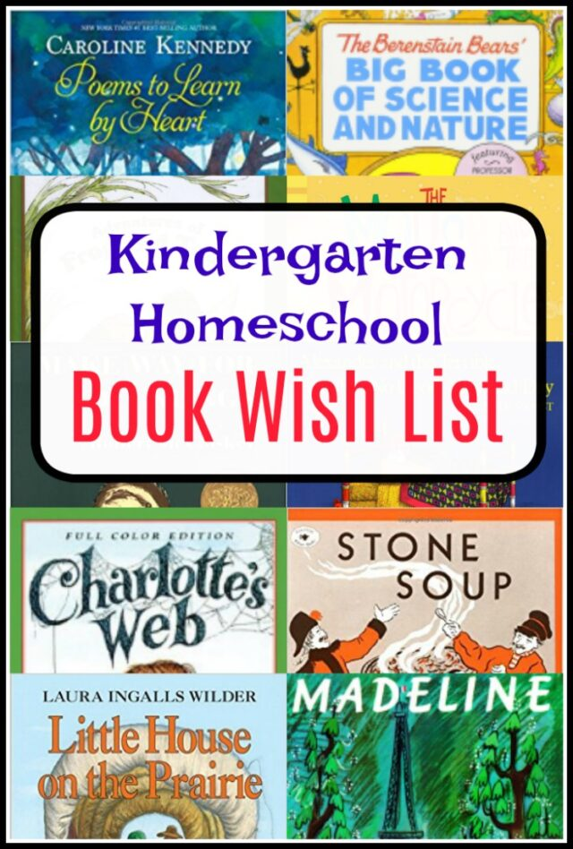 kindergarten homeschool books