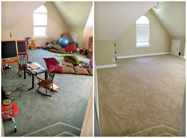 new playroom carpet