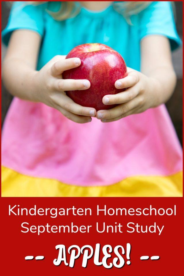 Kindergarten Homeschool Apple Unit Study
